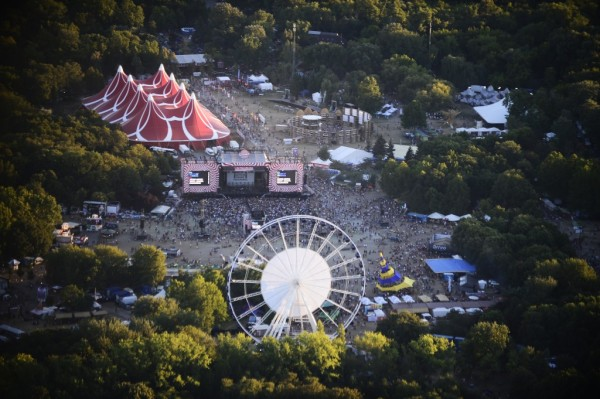 Festival Sziget-vue-aerienne Budapest